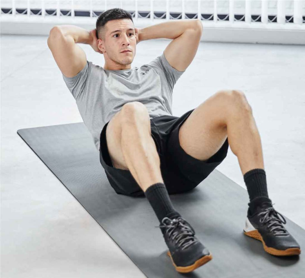 crunch core stability oefening